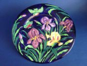 Rare Maling Embossed 'Iris' Wall Plaque c1936